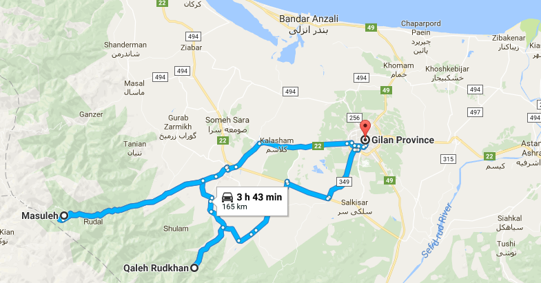 Map picture of Gilan Daily tour tour