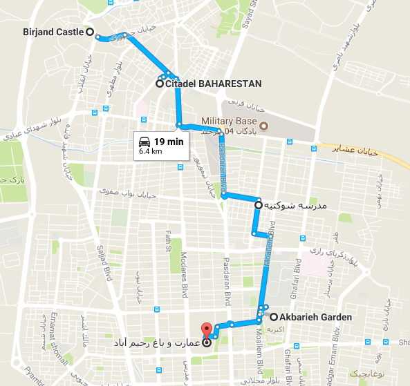 Map picture of Birjand Daily Tour tour