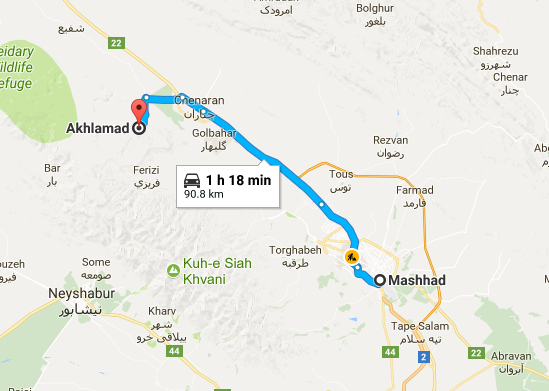 Map picture of Akhlamad Daily Tour tour