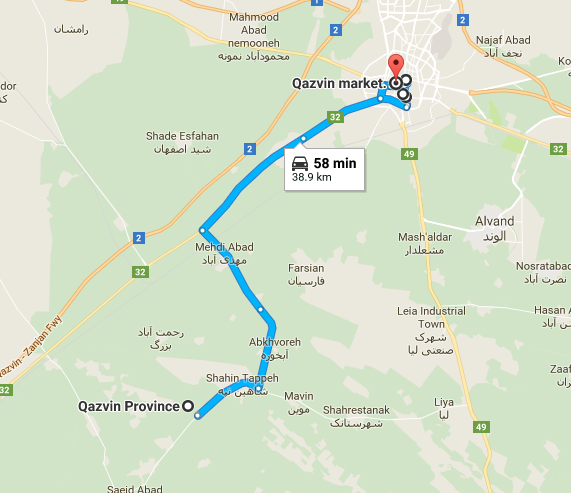 Map picture of ًًًQazvin Daily Tour tour
